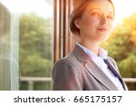 portrait of confident... | Shutterstock . vector #665175157