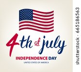 fourth of july usa independence ... | Shutterstock . vector #665186563