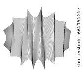 vector abstract black shape.... | Shutterstock .eps vector #665195257