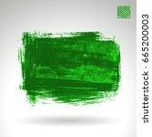 green brush stroke and texture. ... | Shutterstock .eps vector #665200003