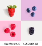 creative layout made of... | Shutterstock . vector #665208553