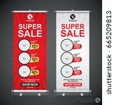 roll up big sale banner... | Shutterstock .eps vector #665209813