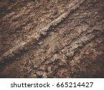 Wheel Tracks On The Soil