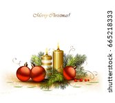 christmas background with... | Shutterstock .eps vector #665218333