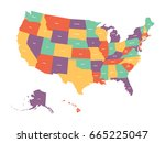 political map of usa  united... | Shutterstock .eps vector #665225047