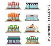 set of vector flat design ... | Shutterstock .eps vector #665227543