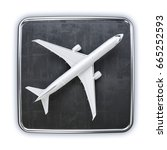 airplane icon   3d illustration | Shutterstock . vector #665252593