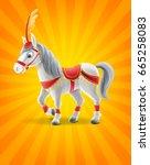 horse cartoon | Shutterstock .eps vector #665258083