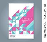 abstract minimal geometric line ... | Shutterstock .eps vector #665259043