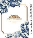 vintage delicate invitation... | Shutterstock .eps vector #665303887