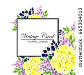 vintage delicate invitation... | Shutterstock .eps vector #665304013