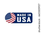 made in usa sign. vector... | Shutterstock .eps vector #665305957