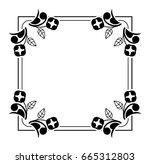 black and white silhouette... | Shutterstock .eps vector #665312803