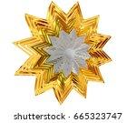 3d rendering. winter snowflake... | Shutterstock . vector #665323747