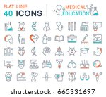 set of line icons  sign and... | Shutterstock . vector #665331697