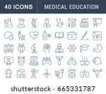 set of line icons  sign and... | Shutterstock . vector #665331787