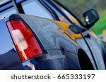 side and back of a pick up | Shutterstock . vector #665333197