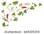 herbs and spices for cooking ... | Shutterstock . vector #665335243