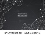 lines background dots with... | Shutterstock .eps vector #665335543