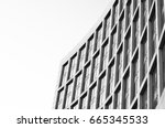 black and white city... | Shutterstock . vector #665345533