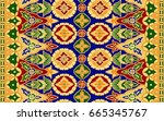 seamless batik pattern.able to... | Shutterstock . vector #665345767