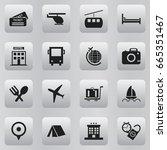 set of 16 editable journey... | Shutterstock .eps vector #665351467
