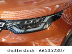 the close up of headlight of...