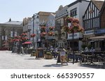 pubs and restaurants on the... | Shutterstock . vector #665390557