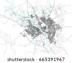 map of mosul  north iraq.... | Shutterstock .eps vector #665391967