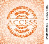 access abstract orange mosaic... | Shutterstock .eps vector #665394583