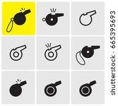 whistles icons   Shutterstock .eps vector #665395693