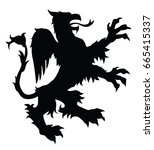 griffin silhouette. editable...