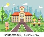 stock vector illustration back... | Shutterstock .eps vector #665423767