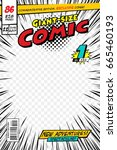 comic book cover. vector... | Shutterstock .eps vector #665460193
