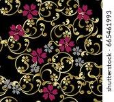 japanese pattern arabesque | Shutterstock .eps vector #665461993