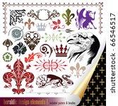 vecor set  heraldry   elements... | Shutterstock .eps vector #66546517