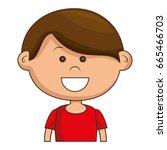 cute little boy character | Shutterstock .eps vector #665466703