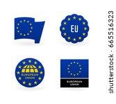 European Union Flag  Eu Emblem...