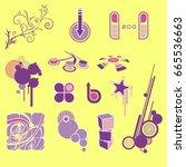 design elements set | Shutterstock .eps vector #665536663