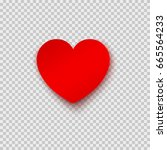 paper sticker in heart shape... | Shutterstock .eps vector #665564233