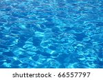 swimming pool with ripple turquoise water background - stock photo