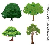 tree set | Shutterstock . vector #665579533
