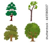 tree set | Shutterstock . vector #665580037