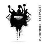 vector design for basketball ... | Shutterstock .eps vector #665593357