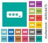 pin code multi colored flat... | Shutterstock .eps vector #665616673