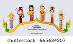 thailand travel concept   thai... | Shutterstock .eps vector #665634307