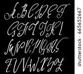 hand drawn elegant calligraphy... | Shutterstock .eps vector #665652667