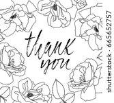 thank you handwritten... | Shutterstock .eps vector #665652757