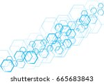 vector technology sky hexagonal ...