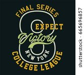 graphic final series expect... | Shutterstock .eps vector #665696857